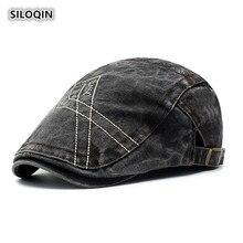 SILOQIN Trend Snapback Spring Autumn New Denim Berets Adjustable Fashion Leisure Brand Hats Tourism Mountaineering Sports