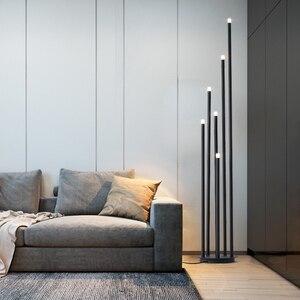 Image 2 - Lámpara LED de pie de rama de diseño, lámpara de pie negra mate de 12W para sala de estar nórdica, dormitorio, arte, decoración del hogar, iluminación de suelo
