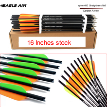 16 Inches High Quality Crossbow Bolts spine 400 Arrows Carbon for Archery Hunting