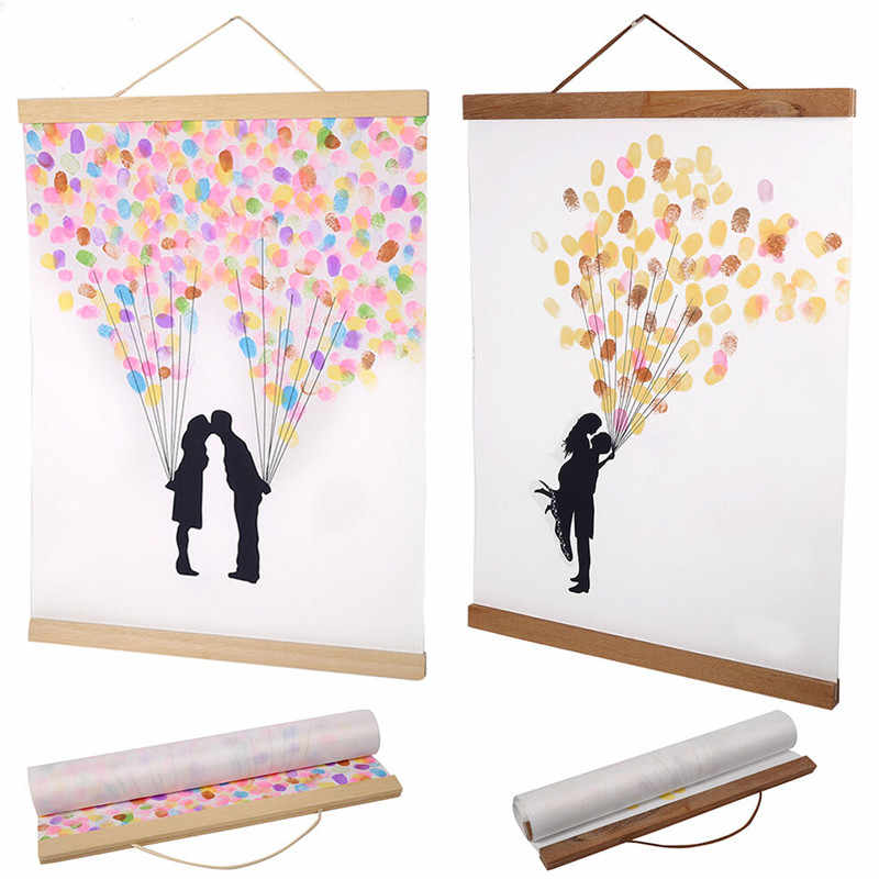 21-70cm Magnetic Wooden Photo Frame Scroll Print / Poster / Picture Hanger DIY