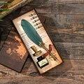 Роскошная Подарочная авторучка  набор в коробке  винтажная красочная перьевая ручка  погружные чернила  каллиграфия  ручка для студентов  п...