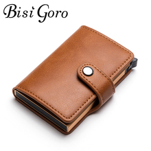 Bisi Goro  Small Purse Rfid Card Holder Wallets Men And Women  Pu Leather Slim Mini Wallet Small Money Bag Id Holder