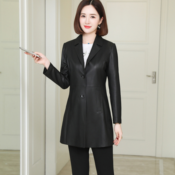 Nerazzurri, blazer de piel sintética negra para mujer, chaquetas de piel sintética finas, chaquetas de piel de talla grande para mujer de otoño 5xl 6xl 7xl