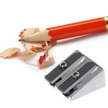 Metal Bevelled Double Hole Pencil Sharpener School Office Sharpener Stationery X6HB