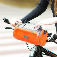Большая велосипедная сумка на руль водонепроницаемая для телефона