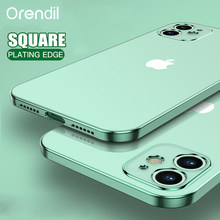 Orendil Classic Vierkant Frame Plating Case Voor Iphone 12 Mini Pro Max, soft Cover Clear Cover Case Voor Iphone 11 Pro Max