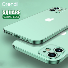 Orendil Classic Square Frame Plating Case for IPhone 12 SE 11 Pro Max, Clear Back Cover Case for IPhone X XR XS MAX 6 7 8 Plus