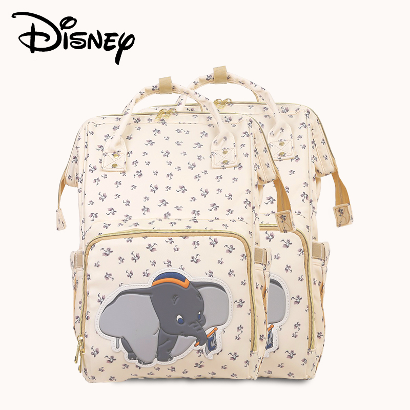 Disney Beige Cute Dumbo USB Diaper Bag Waterproof Backpack Maternity Bag For Mom Travel Nursing Bags Luxury Pre-design 2019 New