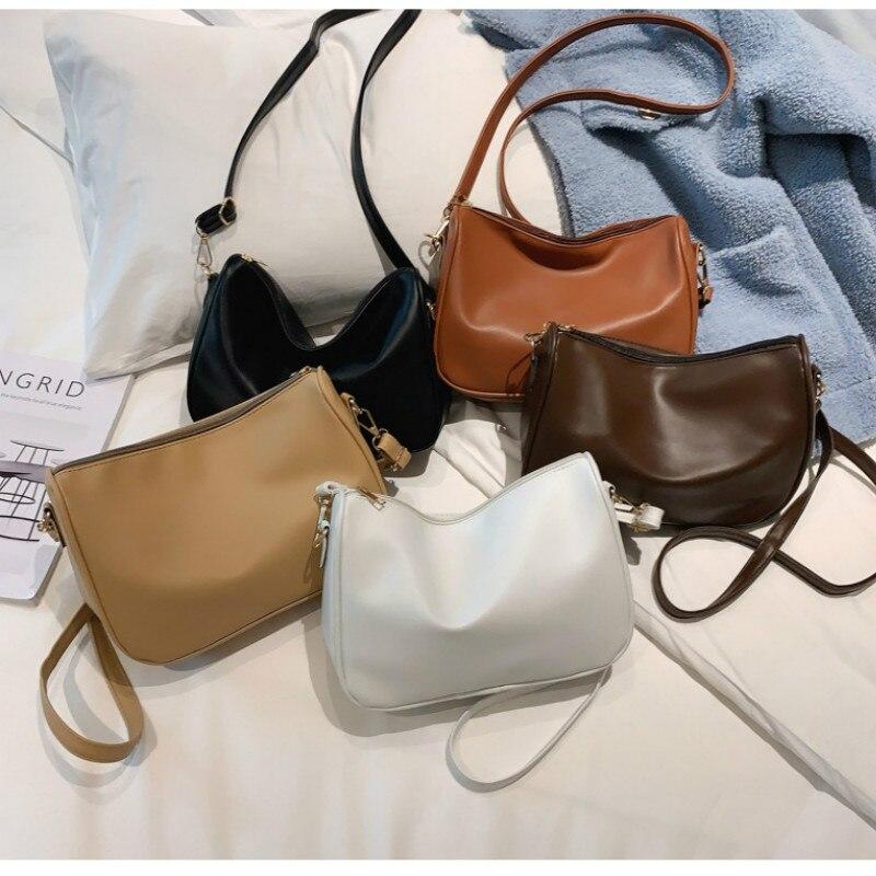 Nova moda feminina um ombro mensageiro saco versátil horizontal pequeno quadrado bolsa de ombro de couro macio saco do telefone móvel
