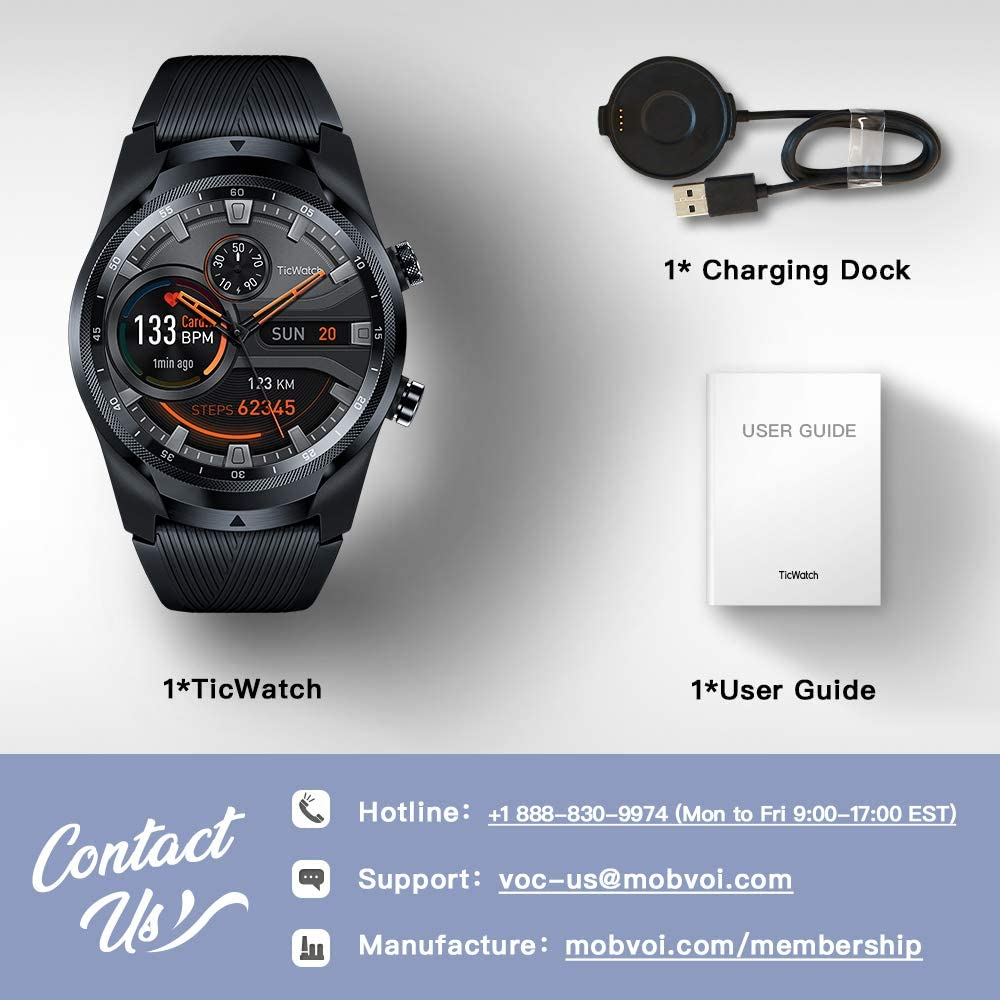 Ticwatch Pay NFC De-Vodafone-Phones Ip68 Waterproof 4g-Service 1GB for Us-Verizon Sleep-Tracking-Swim-Ready