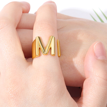 Vintage Adjustable A-Z Letter Metal Ring Female Jewelry Gothic Charm Gold Ring Fashion Opening Wedding Band Rings for Women Girl vintage adjustable a z letter metal ring female jewelry gothic charm gold ring fashion opening wedding band rings for women girl