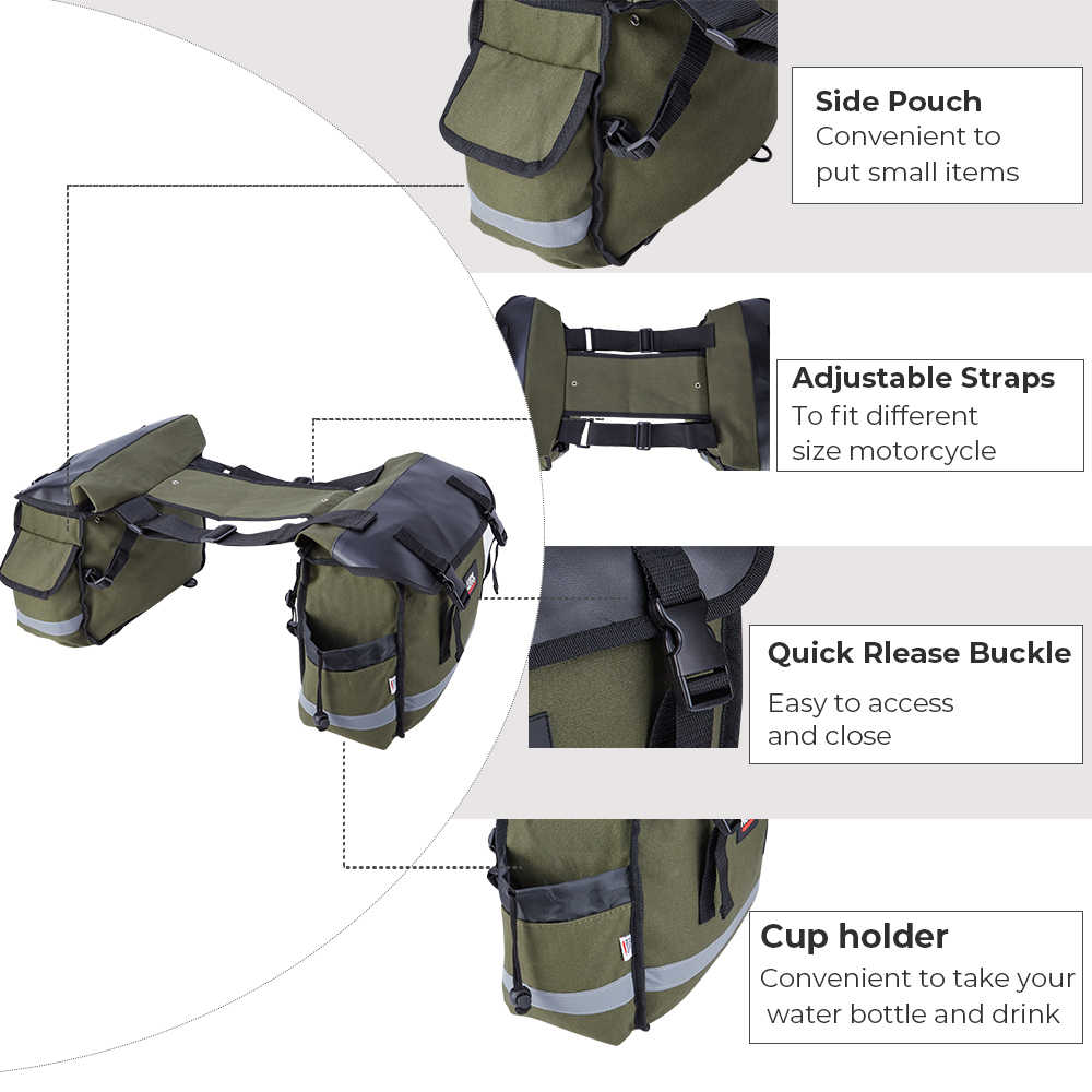 KEMiMOTO motosiklet çantaları heybe bagaj çantaları seyahat Knight Rider Touring Triumph Bonneville Honda shadow