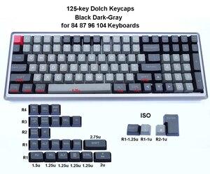 Image 4 - Механическая клавиатура 125 клавиши PBT OEM профиль Dolch Carbon для переключателей Cherry MX 61 63 84 87 96 104 Tada68 FC980M