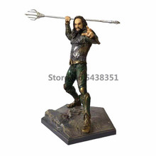 19cm Anime figure DC Justice League Superhero Atlantis Aquaman Action Figure Model Toy USA movie Model figure toy gift 35cm avengers 3 incredible hulk robert bruce banner justice league pvc action figure dc comics collectible model toy l2016