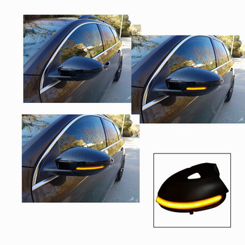 2pcs Dynamic Mirror Indicator Blinker Side LED Turn Signal Light For Volkswagen VW Passat B7 Scirocco MK3 CC EOS Beetle
