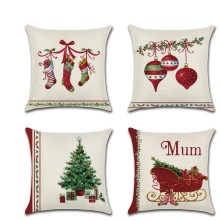 Christmas Tree Red Sock Bell Throw Pillow Cushion Covers  kussenhoes Pillowcase housse de coussin Decorative Sofa Fundas Cojines