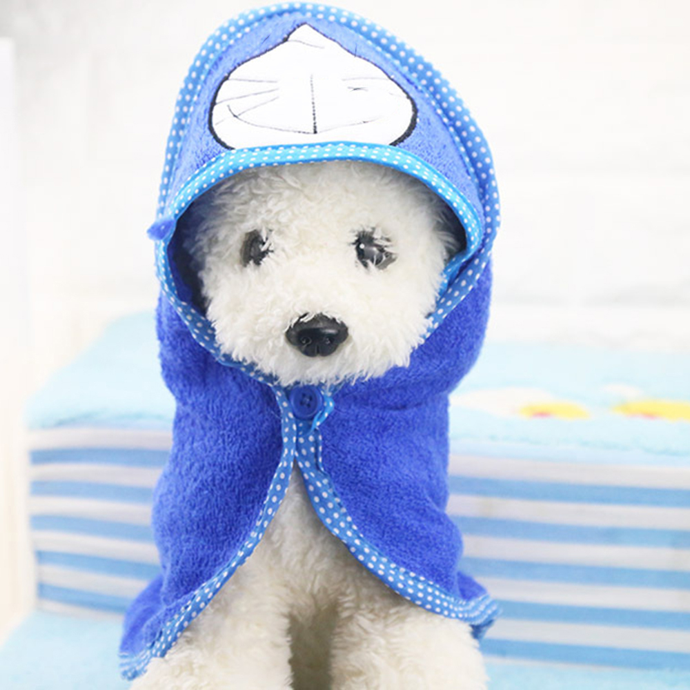 Cute Pet Dog Cat Towel Pets Drying Bath Towels with Hoodies Warm Blanket Soft Drying Cartoon Puppy Super Absorbent Bathrobes 12