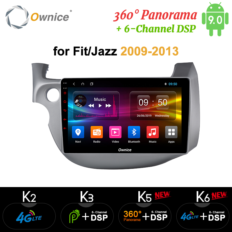 Ownice k3 k5 k6 <font><b>Android</b></font> 9.0 Octa Core Car DVD Player For <font><b>HONDA</b></font> <font><b>FIT</b></font> JAZZ 2008 <font><b>2009</b></font> 2010 2012 2013 4G LTE SPDIF GPS Radio Player image