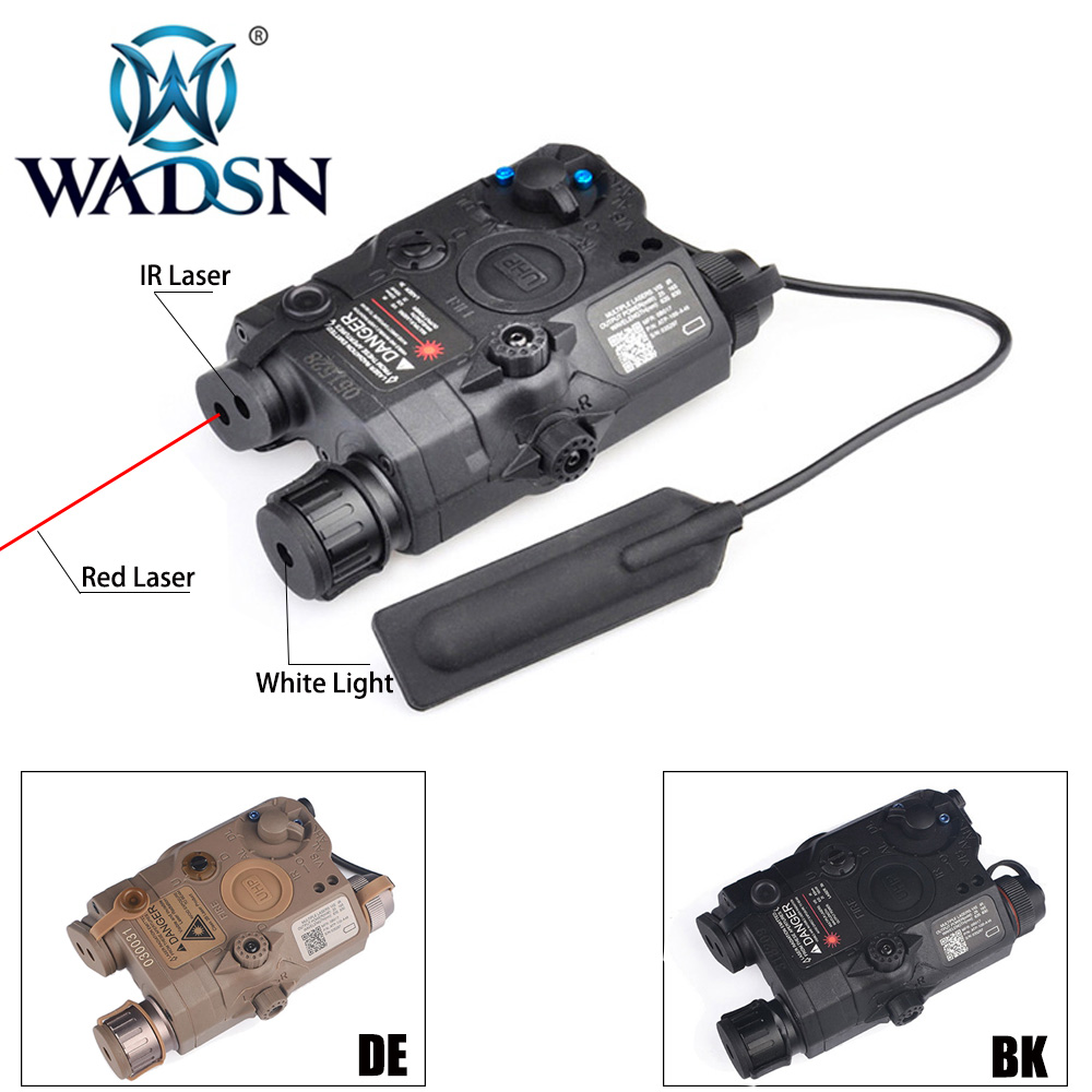 WADSN Airsoft LA-5 PEQ 15 Red Dot Lazer IR Laser LED Tactical Flashlight UHP Appearance Softair LA 5C Peq-15 Weapon Light WEX396