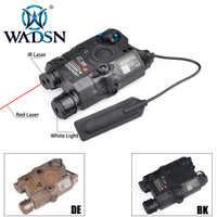 WADSN Airsoft LA-5 PEQ 15 Red Dot Lazer Laser di IR HA CONDOTTO LA Torcia Elettrica Tattica UHP Aspetto Softair LA 5C peq-15 Luce Arma WEX396