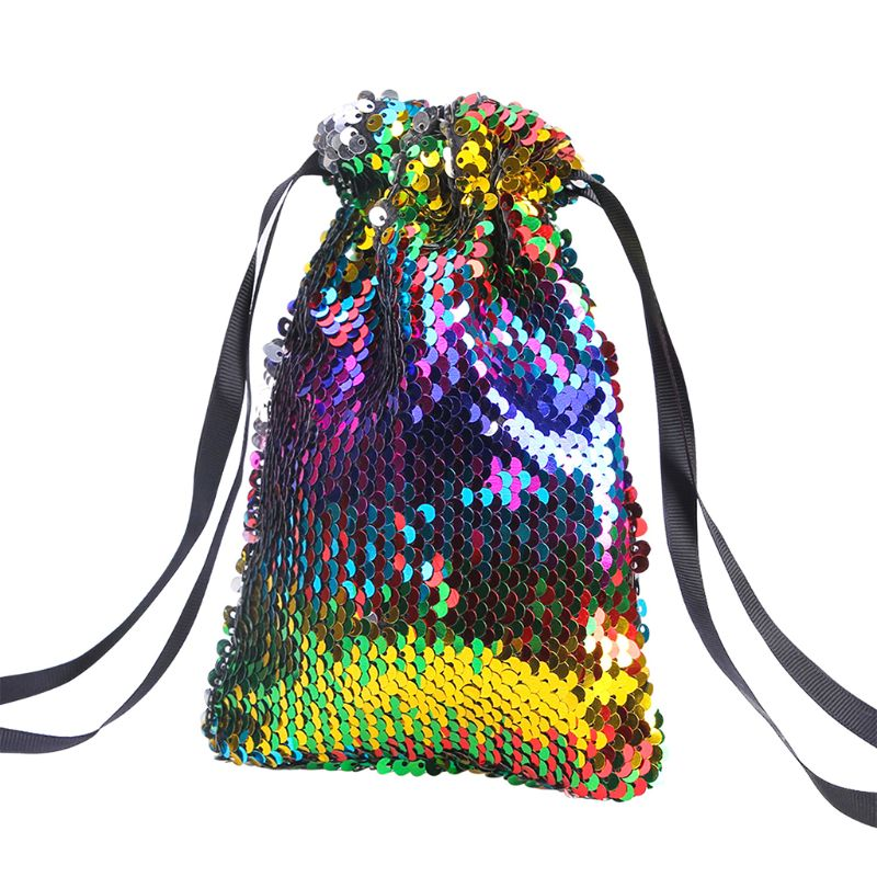 2019 Fashion Bags Sequins Drawstring Wallet Small Pouch Bag Coin Purses Card Holder Drawstring Bag For Women Girl 8 Color