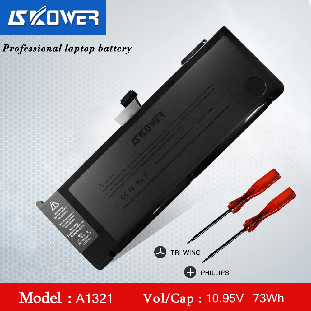 SKOWER 73WH A1321 Laptop Battery For Apple Macbook Pro 15 Inch A1286 (2009 2010 Version) Series