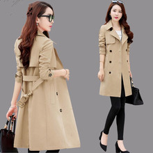 Spring Autumn Trench Coat Slim Single Breasted Trench Coat W