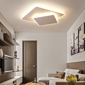 Modern LED Ceiling Light Rectangle remote control Ceiling Lamp Kitchen Light Fixtures For living Dining Room
