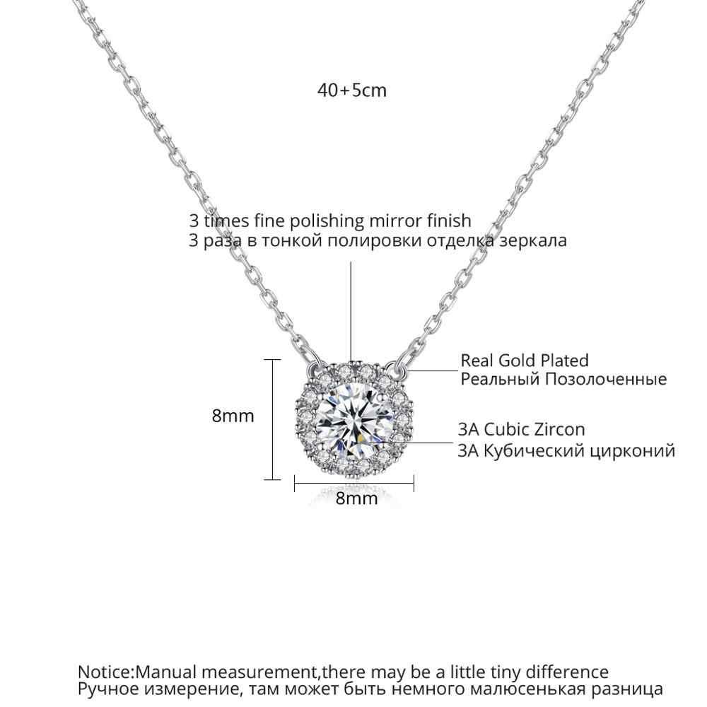 LUOTEEMI klasyczny Design błyszczący CZ wisiorek naszyjniki Choker dla kobiet dziewczyn wesele z fantazyjnym łańcuszkiem modna biżuteria na prezent