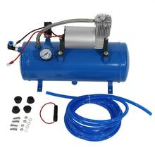150psi 12v compressor de ar com 6 litros tanque pneumático inflator bomba para chifre ar trem caminhão rv pneu acessórios do carro pneus compressas ar