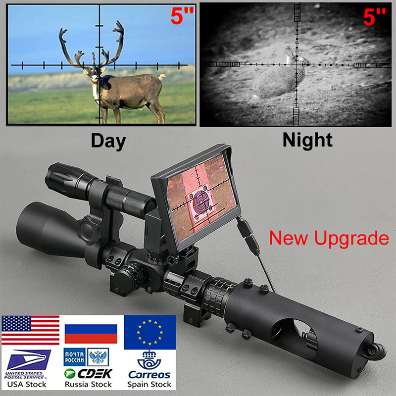 Riflescope Hunting Scopes-Optics Sight Night-Vision Tactical Infrared IR 850nm Waterproof