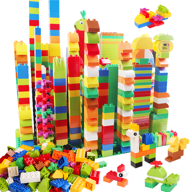 Building-Blocks Figurine City-Bricks Educational-Toys Duploed Animals Classic Consturction