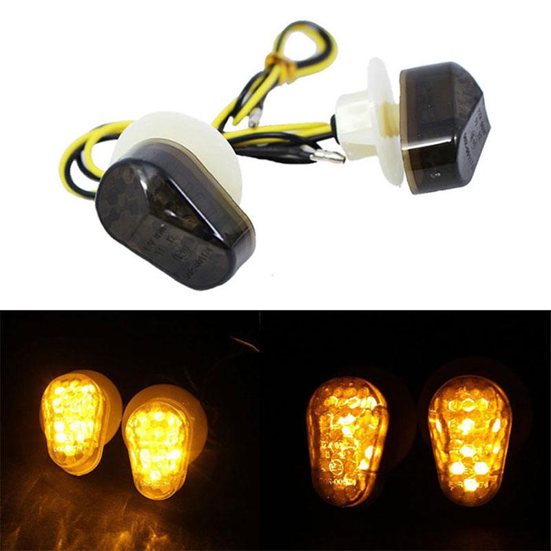 2Pcs Motorbike LED Turn Signal Light Lamp Bulbs Indicator For Yamaha 12V