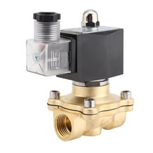 цена на High Performance 1/2 Inch AC 220V 2W Square Coil Pure Copper Direct Acting Solenoid Valve Electromagnetic Valve for Garden Water