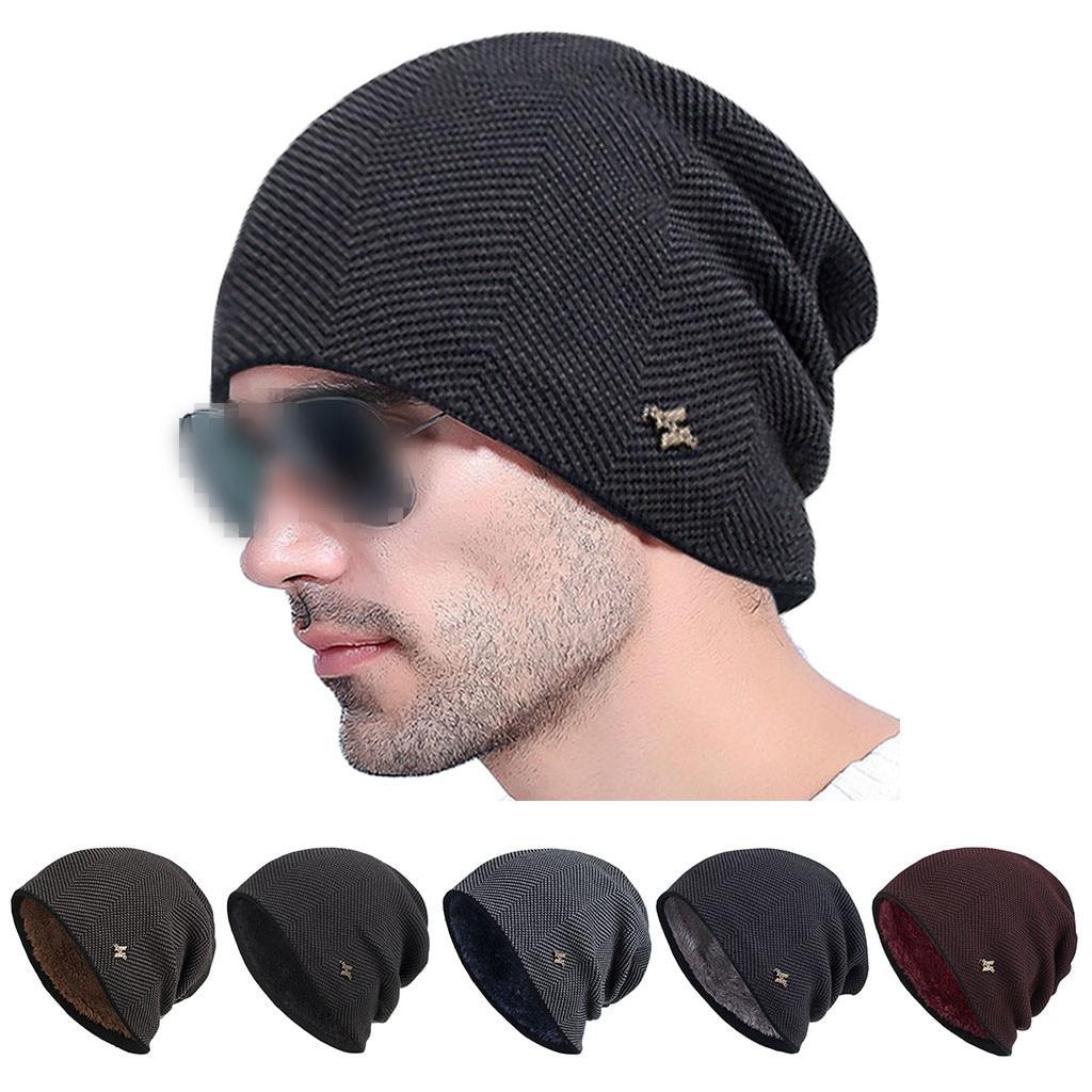 Men Women Plus velvet   beanie   Winter Trendy Warm Oversized Chunky Baggy Stretchy Slouchy   Skully   Hat Ear cap winter hat bonnet cap