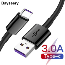 Baysrry USB Type C Cable for Samsung S9 S10 Quick Charge 3.0 Cable USB C Fast Charging for Huawei P30 Xiaomi Redmi note 8 7 Wire