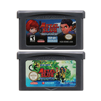 Carte de Console de cartouche de jeu vidéo 32 bits pour Nintendo GBA métal limace édition en langue anglaise