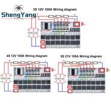 3s/4s/5s Bms 12v 16.8v 21v 100a Li-ion Amt Batterie Au Lithium Ternaire Carte de Protection li-polymère Équilibre Module De Charge