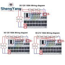 3s/4s/5s Bms 12v 16,8 v 21v 100a литий-ионный ЖИО трехкомпонентная литиевая Батарея защиты печатной платы литий-полимерный батарейный зарядный модуль