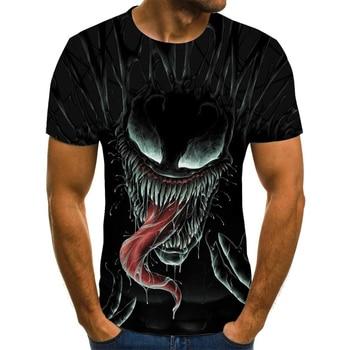 2020 t shirt men Newest Cartoon venomt-shirt 3D Printed T-shirts Men Women Casual Shirt Fitness T Tees Tops 4.3