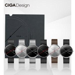 Image 2 - CIGA conception CIGA montre CIGA montre à Quartz Simple montre à Quartz ceinture en acier point rouge conception prix montre montres de mode pour hommes