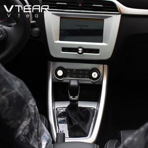 Image 3 - Vtear For MG ZS car center console frame gear shift decorative GPS panel cover interior trim accessories decoration automobile