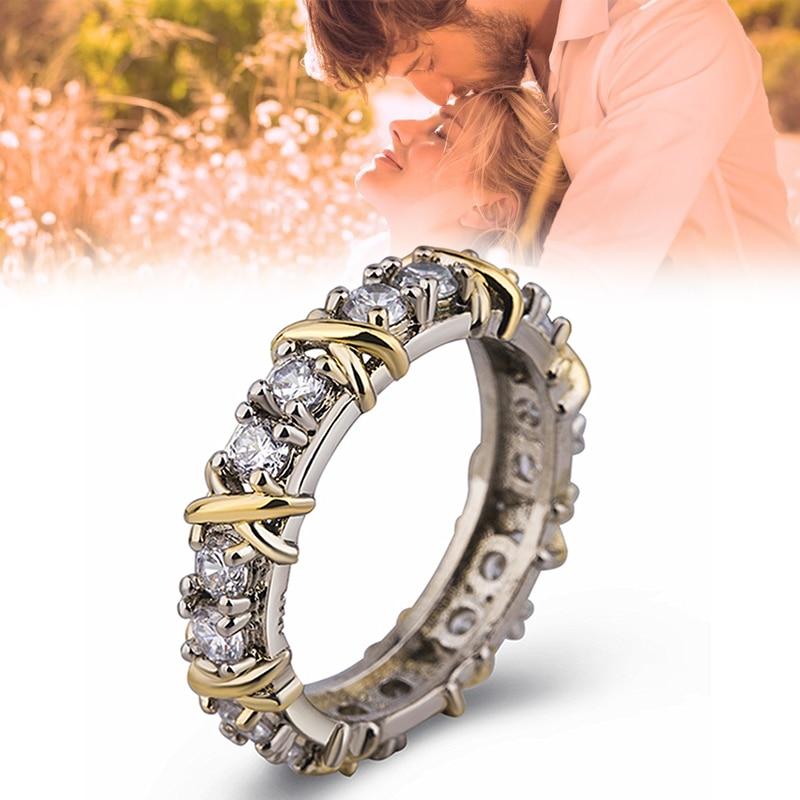 Sterling Silver Cross Full Diamond Ring