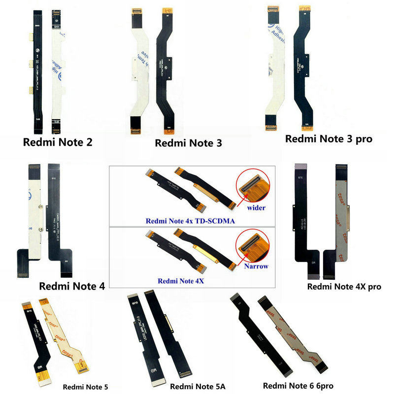 New Main <font><b>Motherboard</b></font> Connector LCD Display Flex Cable For <font><b>Xiaomi</b></font> <font><b>Redmi</b></font> <font><b>Note</b></font> 2 3 4 <font><b>4X</b></font> 4Xpro 5 5A 6 7 8 pro image