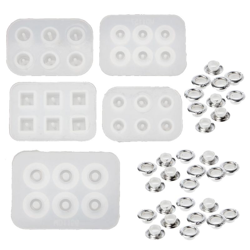 5Pc Handmade Bead Resin Silicone Mold Fit For Add-a-Bead Bracelet Jewelry Making