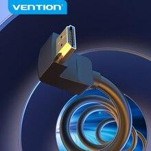 Vention HDMI כבל 4K HDMI 2.0 כבל HDMI 90/270 תואר זווית מתאם עבור אפל טלוויזיה PS4 ספליטר וידאו אודיו 90 תואר HDMI כבל