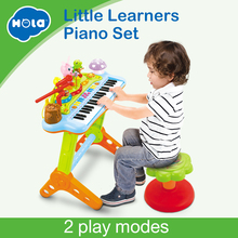 HOLA 669 Kids Musical Toy Electronic Keyboard Organ With Microphone, Stool, Teaching Light up Keys, Dancing Anima