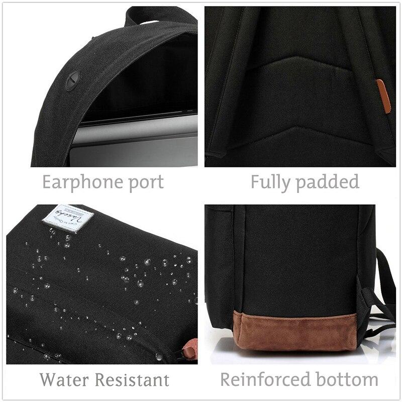 Image 3 - 男性と女性の vaschy ユニセックスクラシック防水リュックスクールバックパック 15.6  インチのラップトップティーンエイジャーのための    グループ上の スーツケース