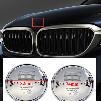 45mm 65mm 67mm 79mm 82mm 74mm Logo chrome car emblem Front Hood and Rear Badges 2 pins Fit For the BMW Trunk image