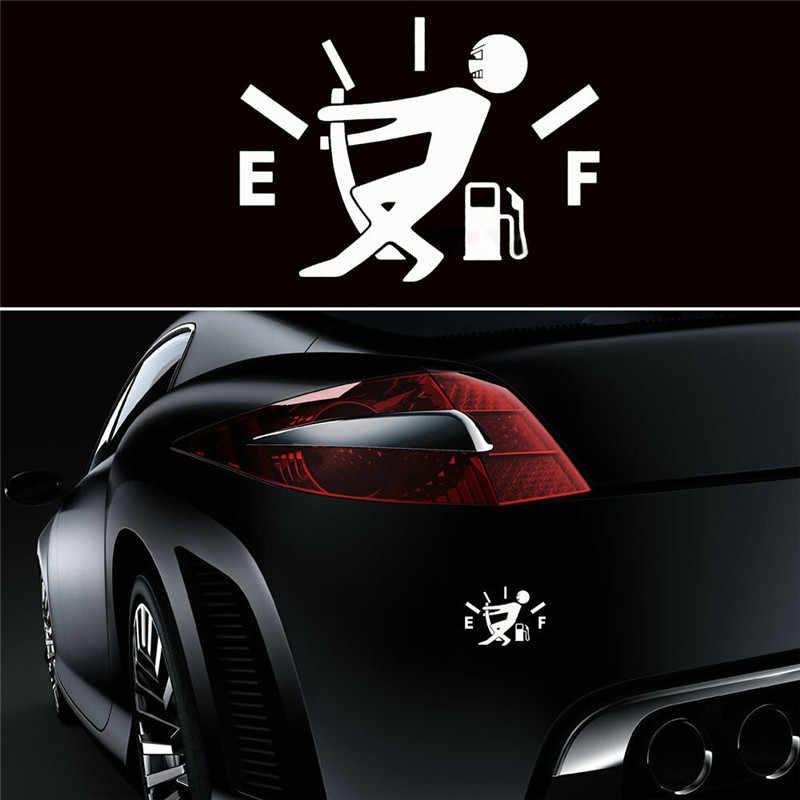 1 個おかしい車のステッカーやデカール高ガス消費デカール燃料ゲージ空ステッカービニール車のステッカー車のスタイリングドロップシップ